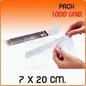 1000 Bolsas de polipropileno con solapa adhesiva 7x20 cm