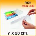 1000 Sacos polipropileno com pala adesiva 7x20 cm
