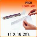 1000 Sacos polipropileno com pala adesiva 11x16 cm