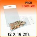 1000 Bolsas PP solapa adhesiva y eurotaladro 12x18 cm