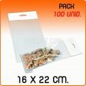 100 Sacos PP com pala adesiva e euro furo 16x22 cm