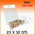 100 Sacos PP com pala adesiva e euro furo 23x32 cm