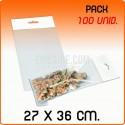 100 Sacos PP com pala adesiva e euro furo 27x36 cm