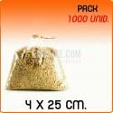 1000 Sacos polipropileno sem fecho 4x25 cm