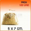 100 Bolsas polipropileno sin cierre 5x7cm