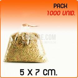 1000 Bolsas polipropileno sin cierre 5x7cm