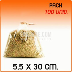 100 Bolsas polipropileno sin cierre 5,5x30cm