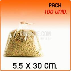 100 Sacos polipropileno sem fecho 5,5x30 cm