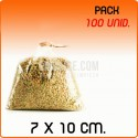 100 Sacos polipropileno sem fecho 7x10 cm