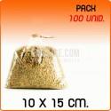 100 Sacos polipropileno sem fecho 10x15 cm