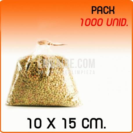 1000 Bolsas polipropileno sin cierre 10x15cm
