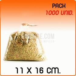 1000 Bolsas polipropileno sin cierre 11x16cm