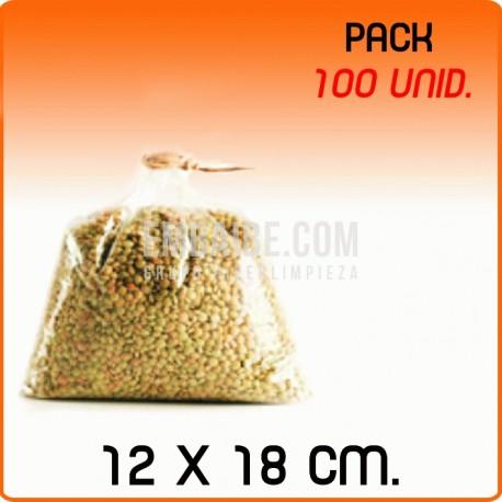 100 Bolsas polipropileno sin cierre 12x18cm