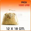 1000 Bolsas polipropileno sin cierre 12x18cm