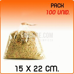 100 Bolsas polipropileno sin cierre 15x22cm