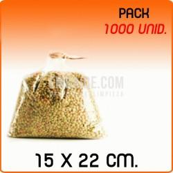 1000 Bolsas polipropileno sin cierre 15x22cm