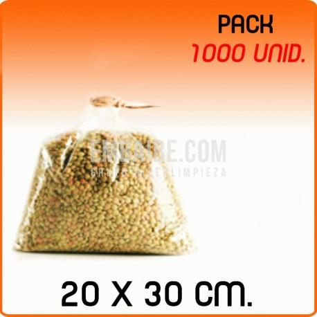 1000 Bolsas polipropileno sin cierre 20x30cm