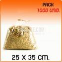 1000 Sacos polipropileno sem fecho 25x35 cm