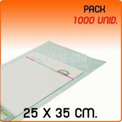 100 Bolsas Polipropileno CPP solapa adhesiva 25x35 cm