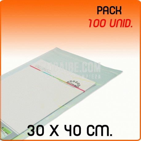 100 Bolsas Polipropileno CPP solapa adhesiva 30x40 cm