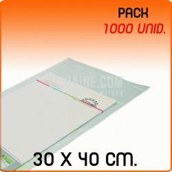 1000 Bolsas Polipropileno CPP solapa adhesiva 30x40 cm