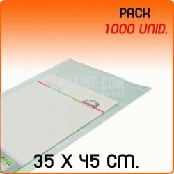 1000 Bolsas Polipropileno CPP solapa adhesiva 35x45 cm