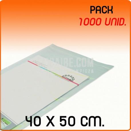 1000 Bolsas Polipropileno CPP solapa adhesiva 40x50 cm