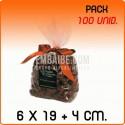 100 Sacos polipropileno com fundo quadrado 6x19+4 cm