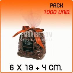 1000 Bolsas polipropileno con fondo cuadrado 6x19+4cm