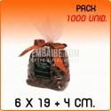 1000 Sacos polipropileno com fundo quadrado 6x19+4 cm