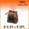 1000 Sacos polipropileno com fundo quadrado 8x24+5 cm