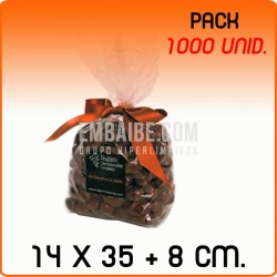 1000 Bolsas polipropileno con fondo cuadrado 14x35+8cm