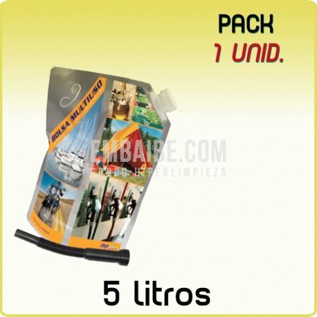 1 Bolsa multiusos portalíquidos 5L
