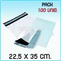 100 Bolsas para mensajería anónima 22,5x35 cm