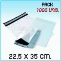 1000 Bolsas para mensajería anónima 22,5x35 cm