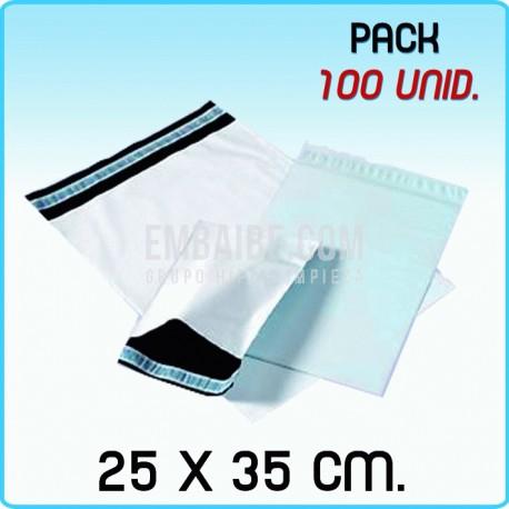 100 Bolsas para mensajería anónima 25x35 cm