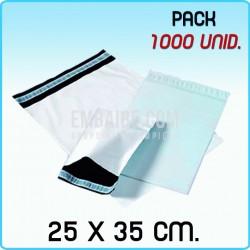 1000 Bolsas para mensajería anónima 25x35 cm