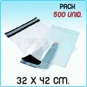 500 Bolsas para mensajería anónima 32x42 cm