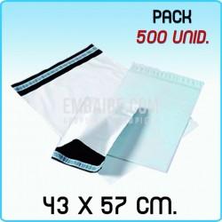 100 Bolsas para mensajería anónima 16,5x22 cm