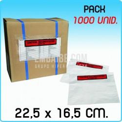 1000 Sobres portadocumentos BASIC Impr. 22,5x16,5cm
