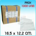 1000 Sobres portadocumentos BASIC Transp. 16,5x12,2cm