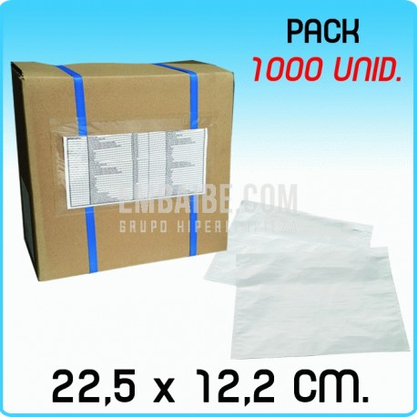 1000 Sobres portadocumentos BASIC Transp. 22,5x12,2cm