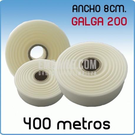 Rollos de polietileno G200 8cmx400m