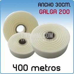 Rollos de polietileno ancho 12 cm Galga 200 400 Metros