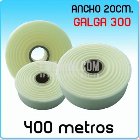 Rollos de polietileno G300 20cmx400m