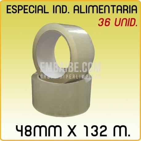 36 Rollos cinta adhesiva acrílico CONGELADO 48mmx132m