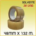 36 Rollos cinta adhesiva solvente transparente 48mmx132m