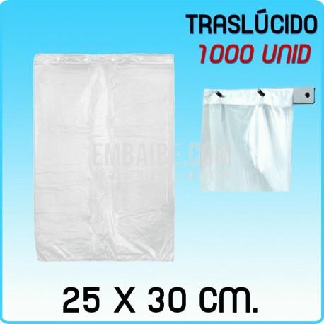 1000 bolsas frutería block traslúcidas 25x30cm