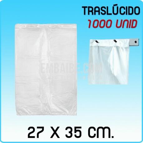 1000 bolsas frutería block traslúcidas 27x35cm