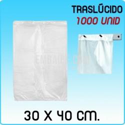 1000 bolsas frutería block traslúcidas 30x40cm
